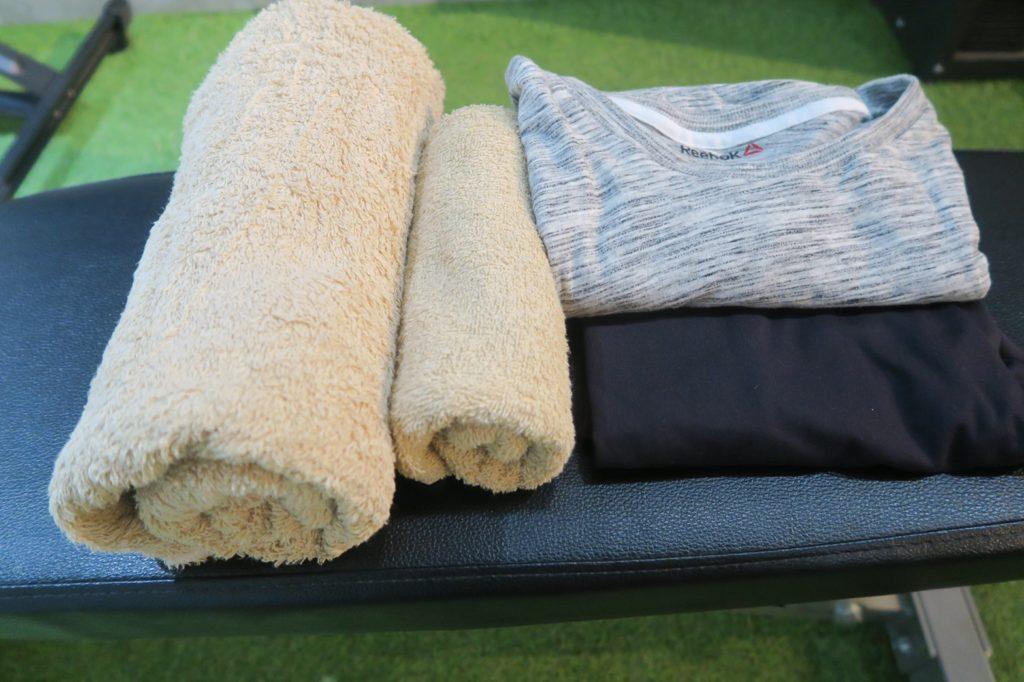 無料レンタルのタオル、トレーニングウェアです|KOMPAS